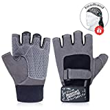 Blusmart Fitness Handschuhe, Trainingshandschuhe Halbfinger Fitnesshandschuhe Sport Handschuhen mit...