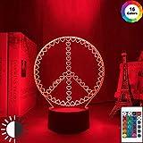 Valentinstag Acryl Nachtlampe Friedenssymbole für Heimtextilien Nachtlicht LED Touch Sensor...
