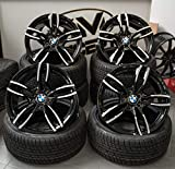4 x 18 Zoll Wheelworld WH29 Alu Felgen 8,5x18 5x120 ET35 schwarz poliert für 3er E36 E46 E90 E91...