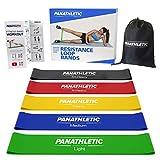 Panathletic Fitnessbänder/Widerstandsbänder, 5er Set, mit Anleitung, eBook auf Deutsch und...