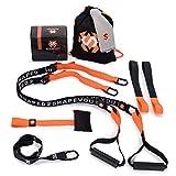Septagon Sports Premium Sling Trainer Set V.2020 Suspension Trainer mit Handtuch, Rucksackbeutel und...