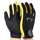 VGEBY 1 Paar Tauchen Neopren Schnorcheln Kajak Surfen Wassersport (Black Yellow S)