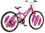 breluxx® 24 Zoll Kinderfahrrad Mountainbike Hardtail Explorer Daisy Sport pink, 6 Gang - Made in EU