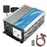 600W Wechselrichter Reiner Sinus Spannungswandler 12V auf 230V Power Inverter mit Fernbedienung und USB-Anschluss für Laptop, Kamera, Smartphone GIANDEL