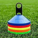 FORZA Markierungshütchen (50 Stück) – Multi-Sportarten Training Markierungsteller und Halter...