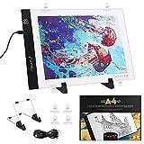 Magicfly Leuchttisch Leuchtplatte Licht Pad A4 LED, Dimmbare LED Pad, Tragbare Lichtkasten Leuchtkasten mit USB Kabel, Ideal für DIY 5D Diamond Painting Skizzierung Zeichnen Malen Skizzierung
