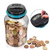 LarmTek Spardose Zähler Sparschwein mit LCD Anzeige,automatische Münzenzählglas Sparbüchse...