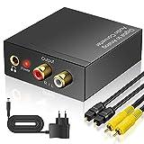 DAC Konverter, Neefeaer Aluminium Digital SPDIF Toslink zu Analog Audio Konverter mit Optisches...