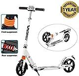 Oppikle Erwachsene City Roller Scooter, Leicht Scooter T-Style Stabile Aus Aluminiumlegierung,...