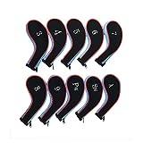 Txian Set von 10Schlägerkopfhüllen Golf Clubs für Eisen Neopren Golf Head Schutzhülle Set