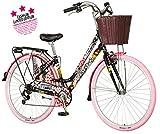 breluxx® 28 Zoll Damenfahrrad Venera Fashion Bonbon Citybike mit Korb + Licht Retro Damenrad, 6...