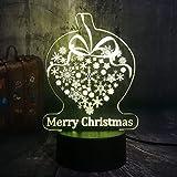 Weihnachten Neujahr Frohe Weihnachten Geschenk Schneeflocke 3D Led Rgb Nachtlichter Usb...