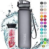 """720°DGREE Trinkflasche """"uberBottle"""" +Früchtebehälter - 1L - BPA-Frei - Wasserflasche für..."""