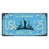KESOTO USA Kennzeichen Blechschilder Metallschilder Blechbild Schilder - New York 2
