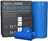 NUTRICS   FaRo Faszienrolle   Komplettset 4 Teilig inkl. Übungsanleitungen   Damen und Herren