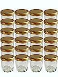 100er Set Sturzgläser Mini Gläser 53 ml Deckelfarbe Gold To 43 Rundgläser Honig Kaviar...