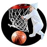 Yumansis Basketballkorb schießen Schlafzimmer Teppich Weiche Runde rutschfeste maschinenwaschbare...