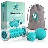 FUßFREUND Premium Fußmassagegerät Fußmassage Roller [3er Set] - Verbessertes Konzept 2019 -...