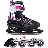 Cox Swain 2 in 1 Kinder Skates-/Schlittschuh -Joy- LED Leuchtrollen, ABEC 7 Carbon Lager,...