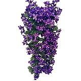 VORCOOL 4petals Künstlich hängende Blumen, Blauregen Hängende Kunstblumen für Hochzeit Haus...