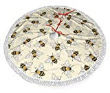 shetaonongbaihuodian Happy Busy Bees Weihnachtsbaumrock Classic Holiday Decorations 30 36 48 Inc,...