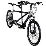 Galano Tandem Fahrrad 26 Zoll Mountainbike Nashville 24Gang MTB Hardtail Fahrrad (schwarz/grau,...