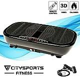 CITYSPORTS Vibrationsplatte, 3D Slim Vibrationsmaschine, mit Fernbedienung und Widerstandsbändern,...