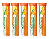 Multivitamin Brausetabletten 5x20 Stk. Orangengeschmack - Vitamin C, E, B1, B2, B6, B12, Biotin, Folsäure, Niacin, Pantothensäure – T&D Pharma German Multivitamin – Made in Germany