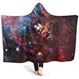 BeiBao-shop Hooded Blanket Space Nebula Star Cluster Das Kosmos-Universum Galaxy FleecedeckeCozy...