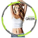 QYSHH Hula Hoop Reifen, Fitness Hula Hoop zur, Gewichtet Schaumstoff Fitness Bewegung Hula Hoop...