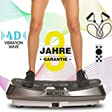 ANCHEER Vibrationsplatte 4D Fitness Dual-Motor Vibrationsplatte mit Großer Rutschsicherer Fläche,...