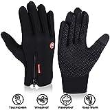DIAOPROTECT Fahrradhandschuhe Winter, Winddicht Wasserdicht Warme Touchscreen Handschuhe,...