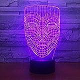 Abstrakter menschlicher KopfSchöner Schmetterling 3D Eishockey Lampe LED Nachtlicht mit...