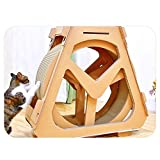 Jtoony Katzenbaum Kletterbaum aus Wellpapier Laufband mit Riesenrad für Haustiermöbel...