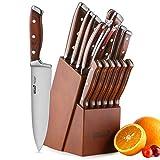 ROMEKER Messerblock Set Messer Küchenmesser Kochmesser Brotmesser Tranchiermesser Universalmesser...