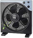 Vollmetall Standventilator 50 Watt Ø 40cm | Oszillierender Ventilator | Windmaschine | Klimagerät...