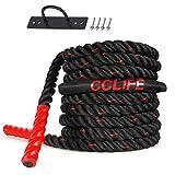 CCLIFE Battle Ropes Schlachtseil 9m 12m 15m Ø38mm Trainingsseil Fitnessseil Sportseil Battle Rope...