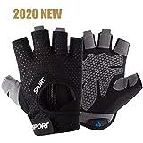 Foobrues Fitness Handschuhe-Trainingshandschuhe Kraftsport-Gewichtheben Handschuhe für Damen und...