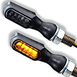 LED Motorrad Mini Blinker Tiny Motorradblinker schwarz rauchgrau getönt