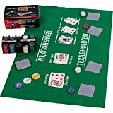 Maxstore Pokerset in Metallbox, 200 Poker Chips, 2 Decks, Dealer Button, Small Blind, Big Blind,...