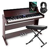 FunKey DP-88 II Digitalpiano Set (88 anschlagsdynamische Tasten, 360 Sounds, 160 Styles, MP3-Player,...