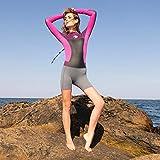 Mode Neue Neoprenanzug Surfen Damen, Taucheranzug, Hohe Qualität, Schwarz,Lila,XL