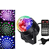 QJJML Disco Ball BüHnenlampe, Mini Disco Licht RGB Scheinwerfereffekt DJ Spot Ball Kristall Disco...