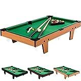 Mini Pool Billardtisch inkl. Zubehör (2 Queues, Kugeln, Dreieck, Kreide, Bürste), 3 Dekore, Maße:...