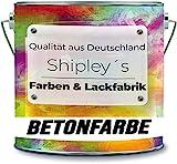 Shipley's Farben & Lackfabrik Betonfarbe Garagenfarbe Bodenfarbe Bodenbeschichtung für Innen Fliesenlack Industrieboden Kellerfarbe Wohnraum Gießharz Epoxidharz (2.5 KG, Kieselgrau Ral 7032)