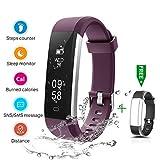 CHEREEKI Fitness Armband, Fitness Tracker Wasserdicht IP67 Aktivitätstracker Schrittzähler Fitness...