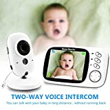 ZTKBG Wireless Video Farbe Baby-Monitor mit 3.2inches LCD 2-Wege-Audio Diskussion...