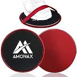 Amonax Gleitscheiben Fitness Doppelseitige Slider-Übung core Fitness Scheibe Gym Gliding Discs für...