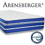 Arensberger ® Flexx 9 Zonen Matratze mit 3D-Memory Foam, 140cm x 200cm, Höhe 25 cm, Allergiker...