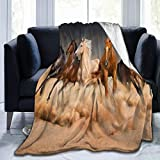 Wearibear Decke zum Laufen, Pferd, Kräuter, Wandteppich, Überwurf, Decke aus Plüsch,...